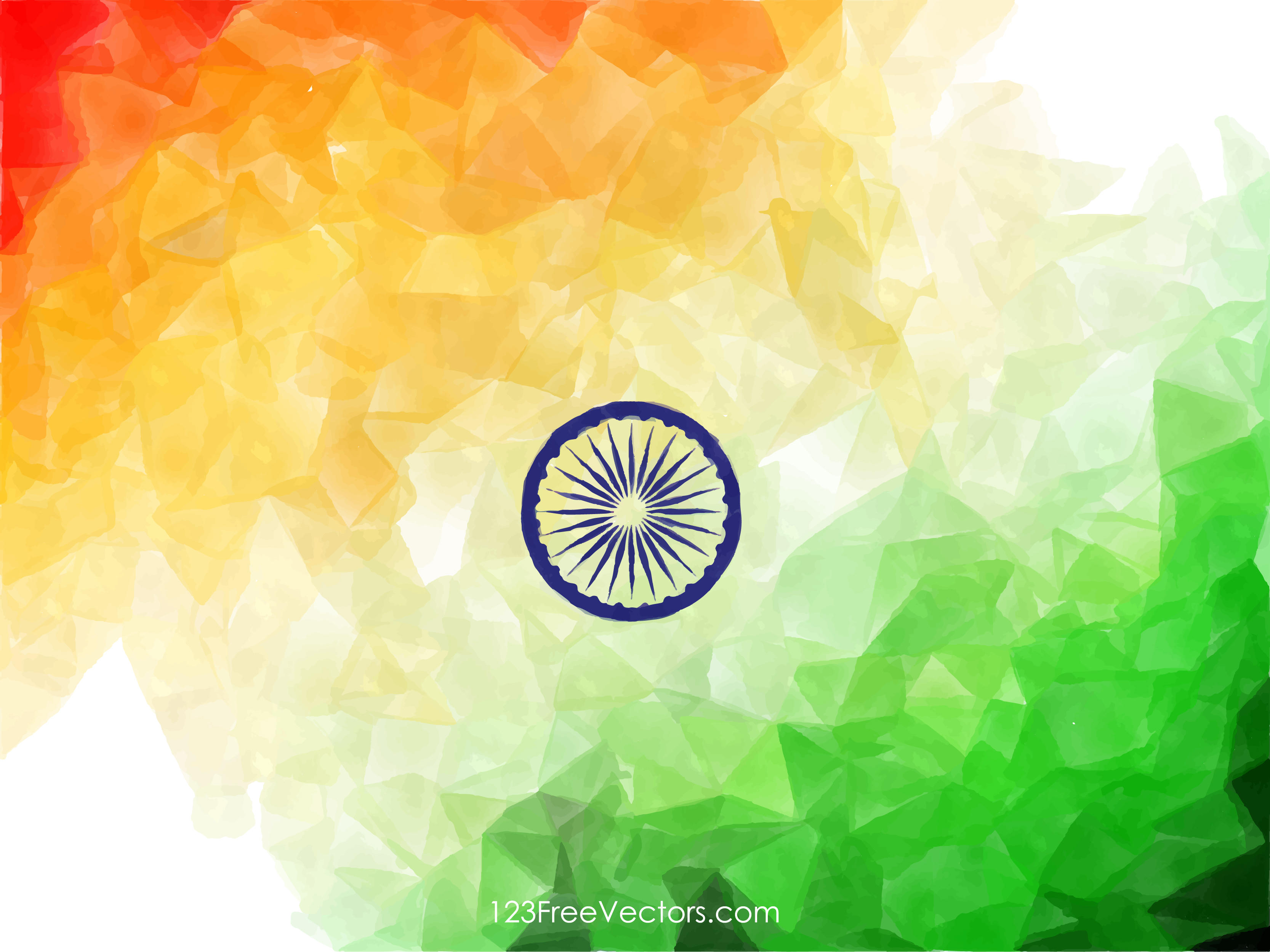 Indian Flag Abstract Wallpaper