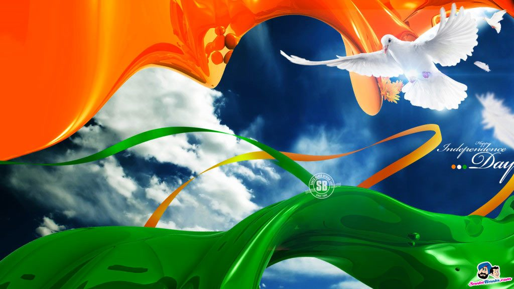 Indian National Flag Wallpaper 3D