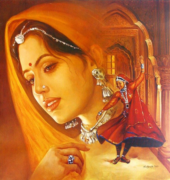 Indian Oil Paintings Wallpapers