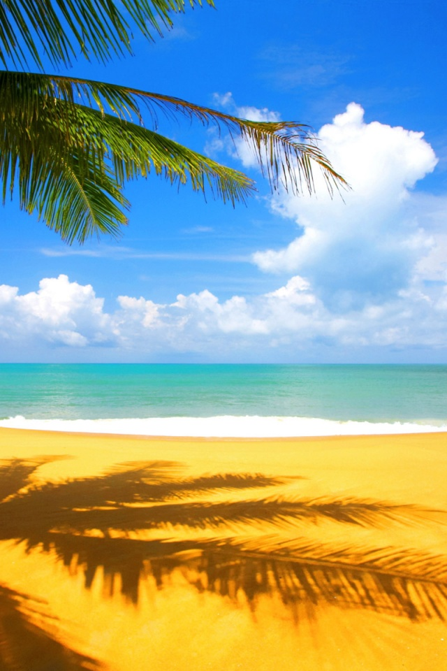 Iphone 4 Beach Wallpaper