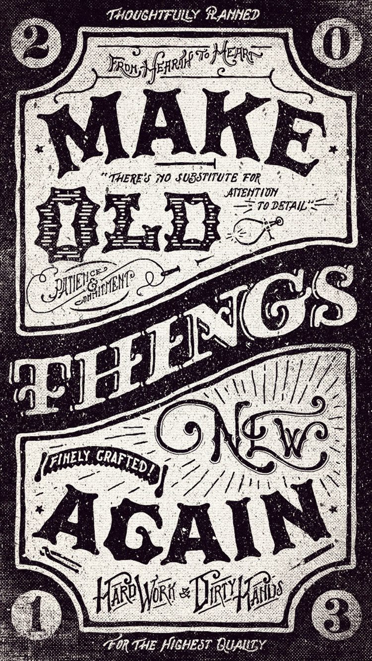 Iphone 5 Vintage Wallpaper
