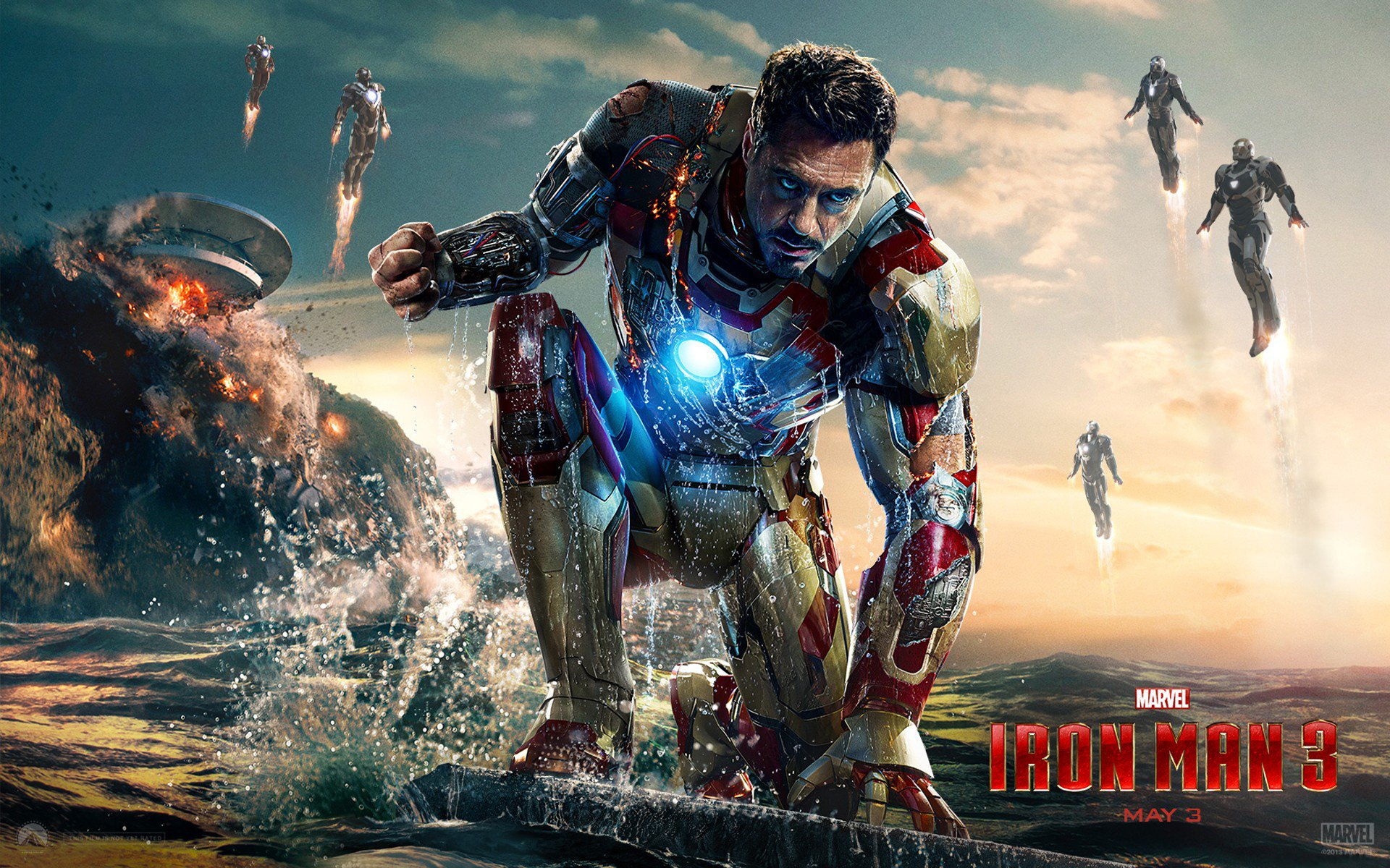 Iron Man 3 Full HD Wallpapers