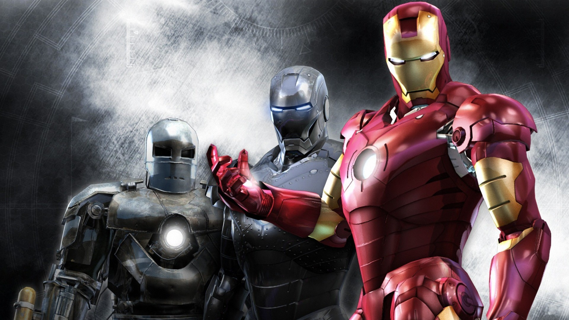 Iron man wallpaper suits