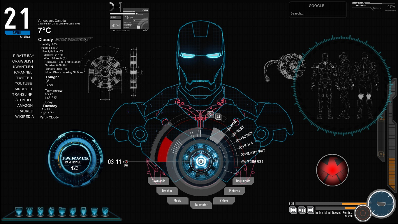 Iron Man Technology Wallpaper