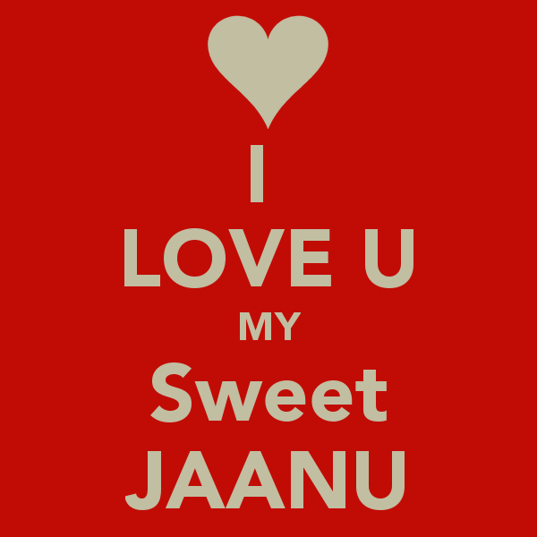 Janu I Love U Wallpaper