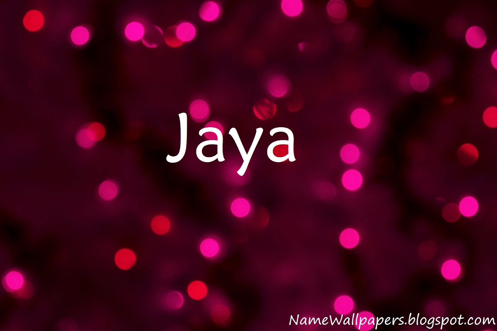Jaya Name Wallpaper