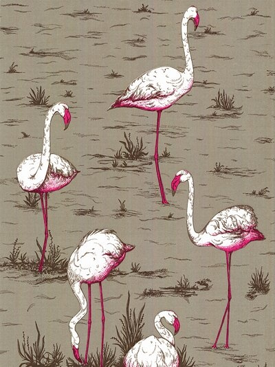 John Lewis Flamingo Wallpaper