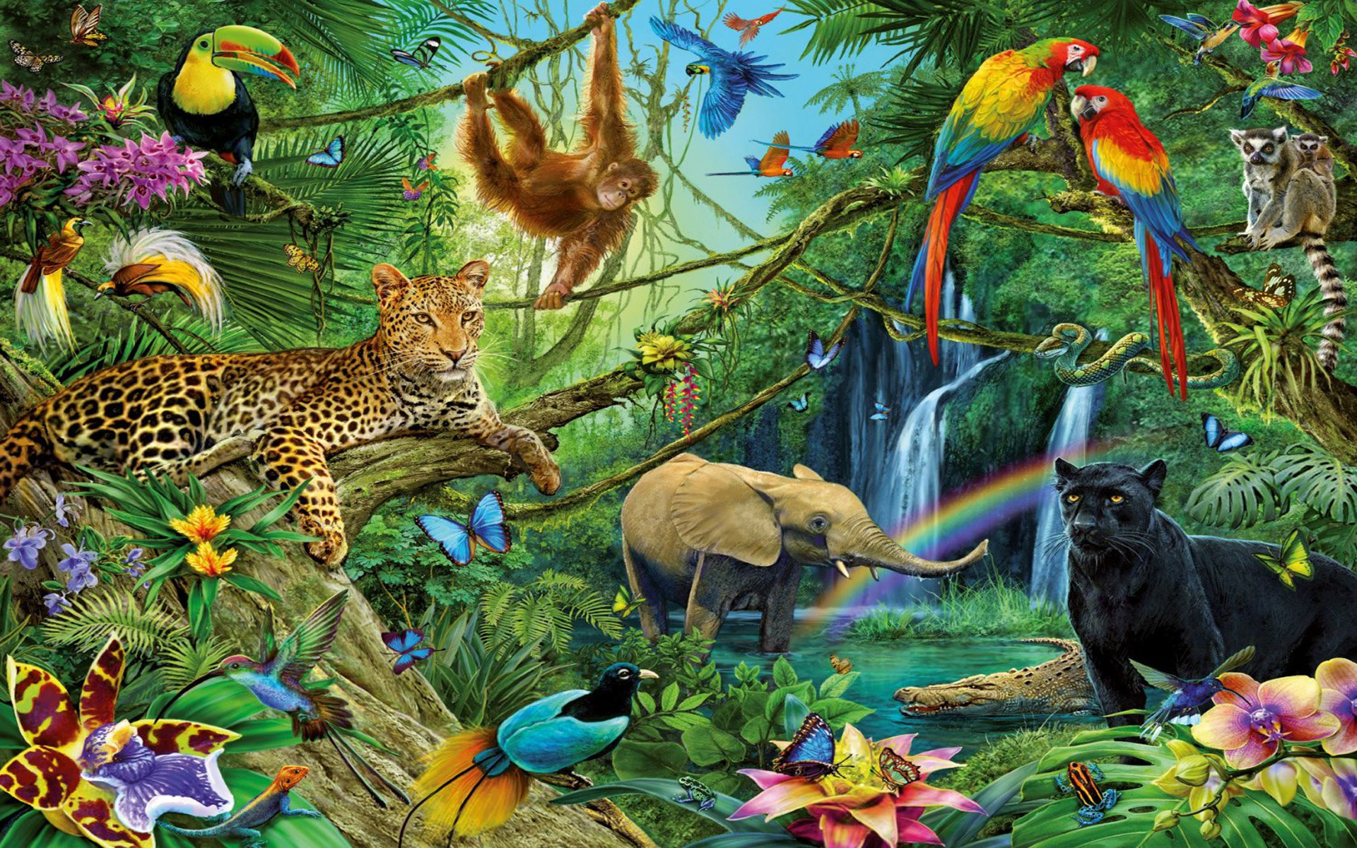 Download Jungle Wallpaper With Animals Gallery