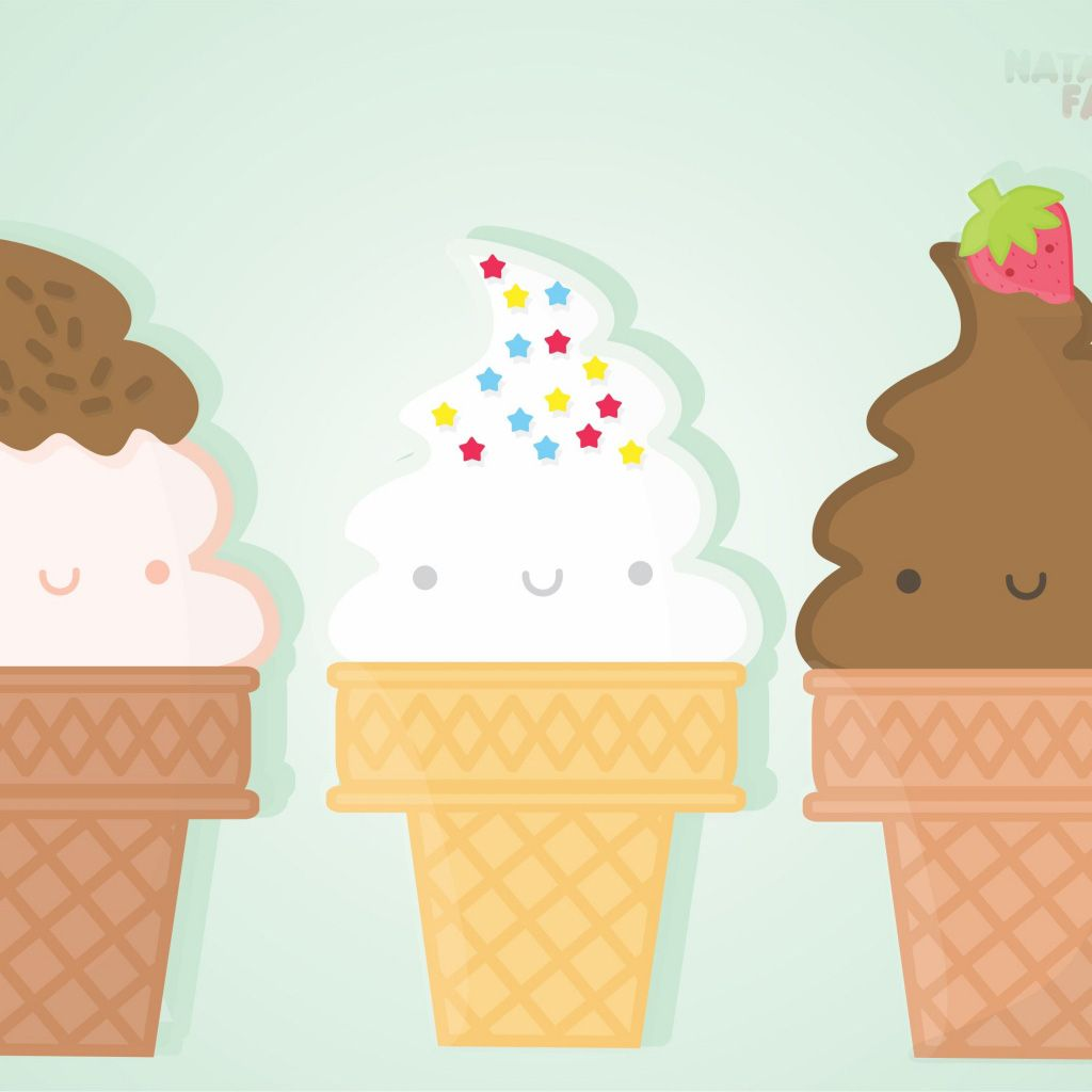 Ice Cream Wide Wallpapers Free: Download Kawaii Ice Cream Wallpaper Gallery