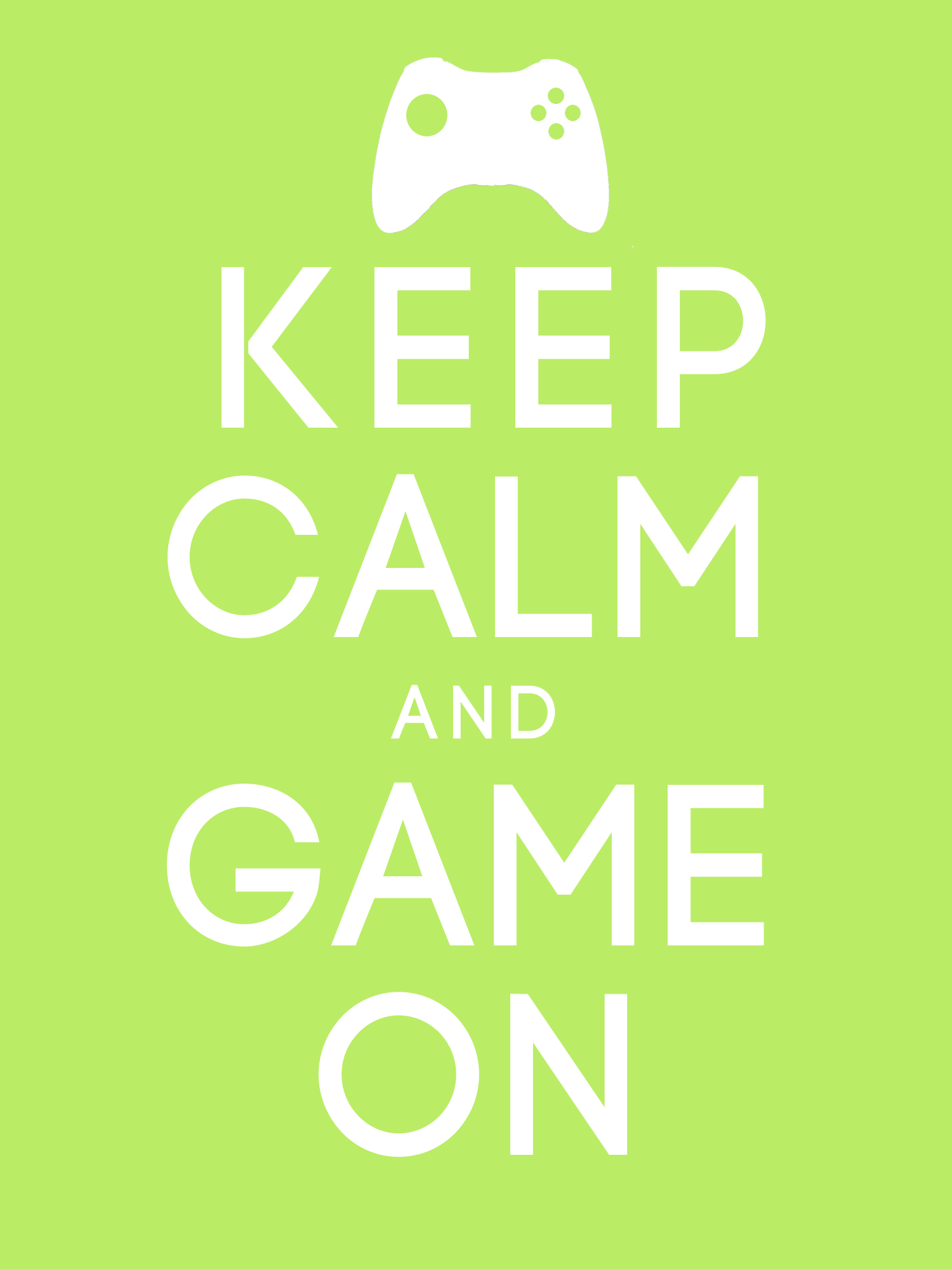 Keep Calm And Game On Wallpaper