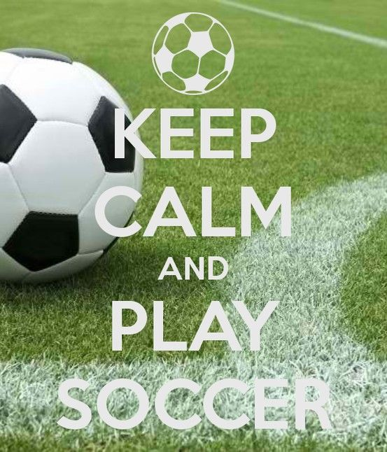 Keep Calm And Play Soccer Wallpaper