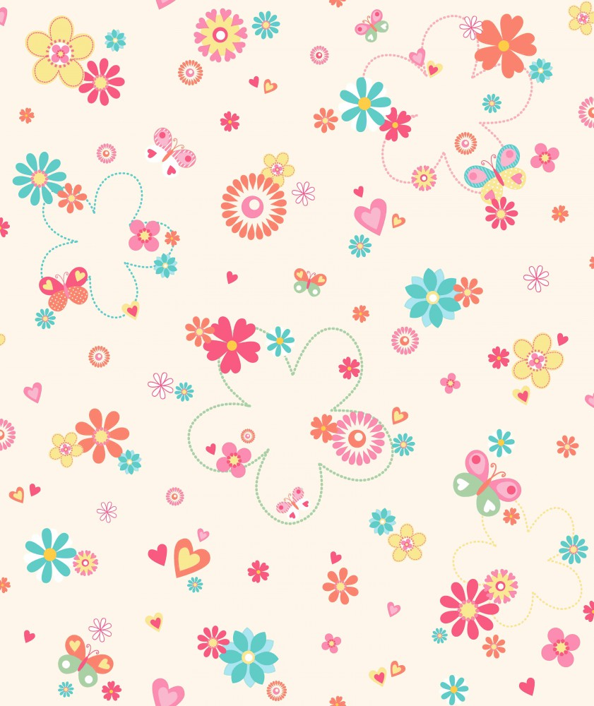 Kids Floral Wallpaper