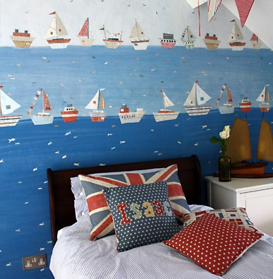 Kids Nautical Wallpaper