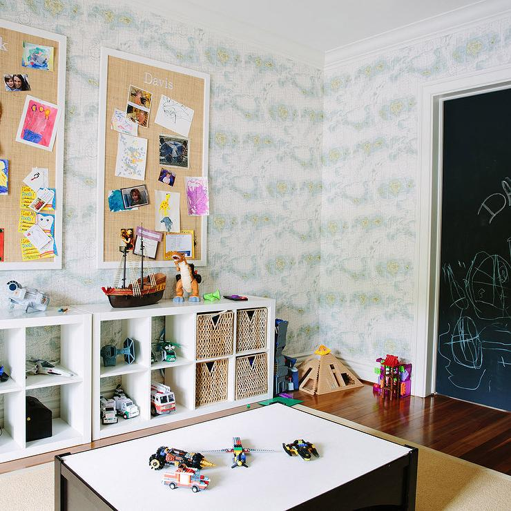 Black And White Playroom For Kids Wall Art