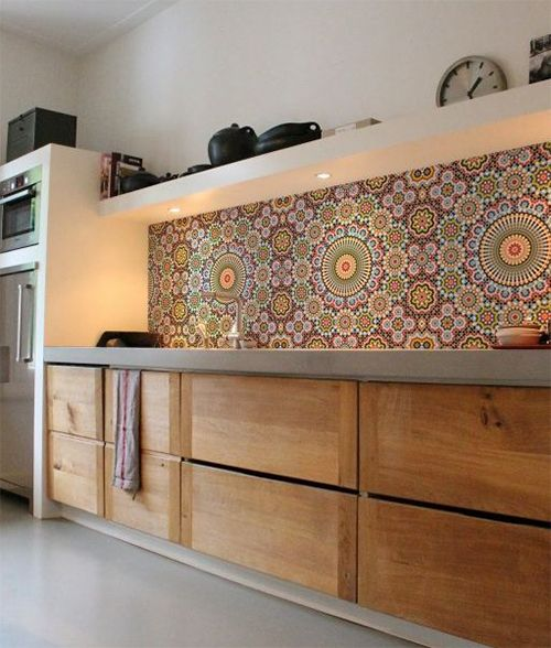 Kitchen Backsplash Wallpaper