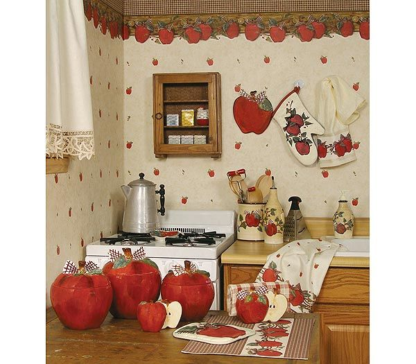 Download kitchen theme wallpaper gallery for Apple kitchen decoration set
