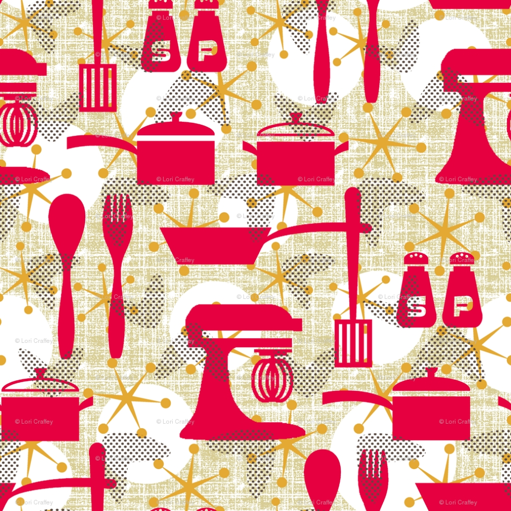 Kitchen Wallpaper Retro
