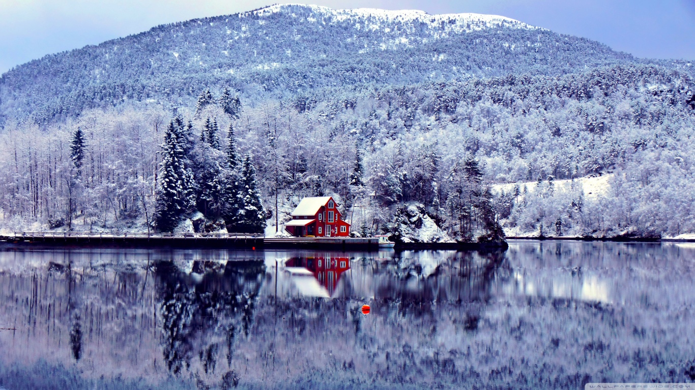 Lake House Wallpaper