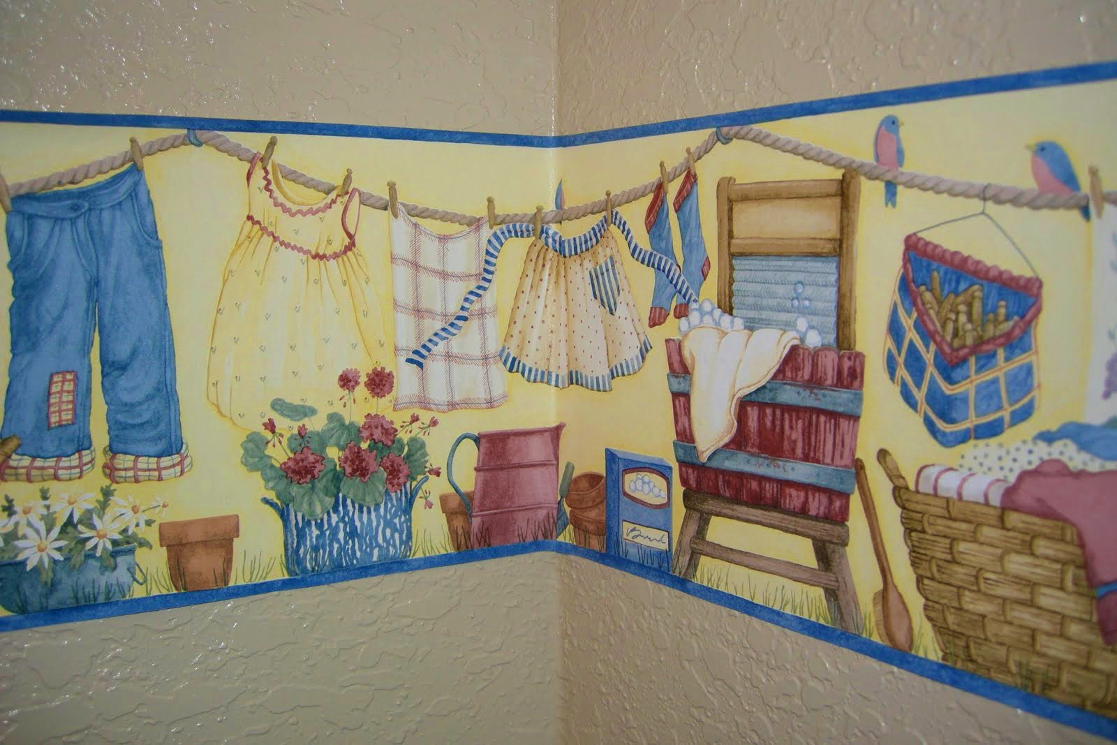 Laundry Room Wallpaper Border