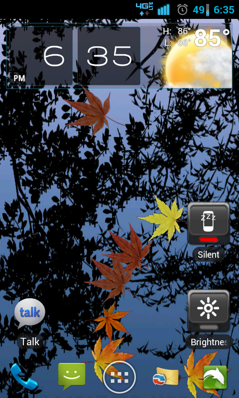 Leaves In Water Live Wallpaper