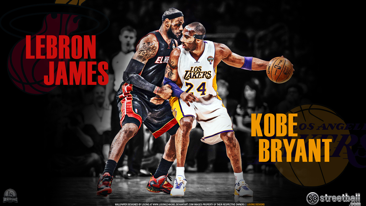 Lebron James And Kobe Bryant Wallpaper