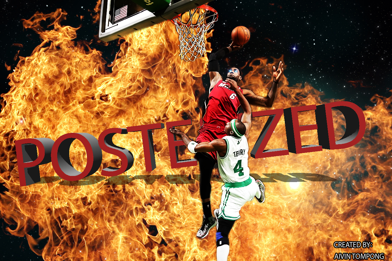 Lebron James Posterizes Wallpaper