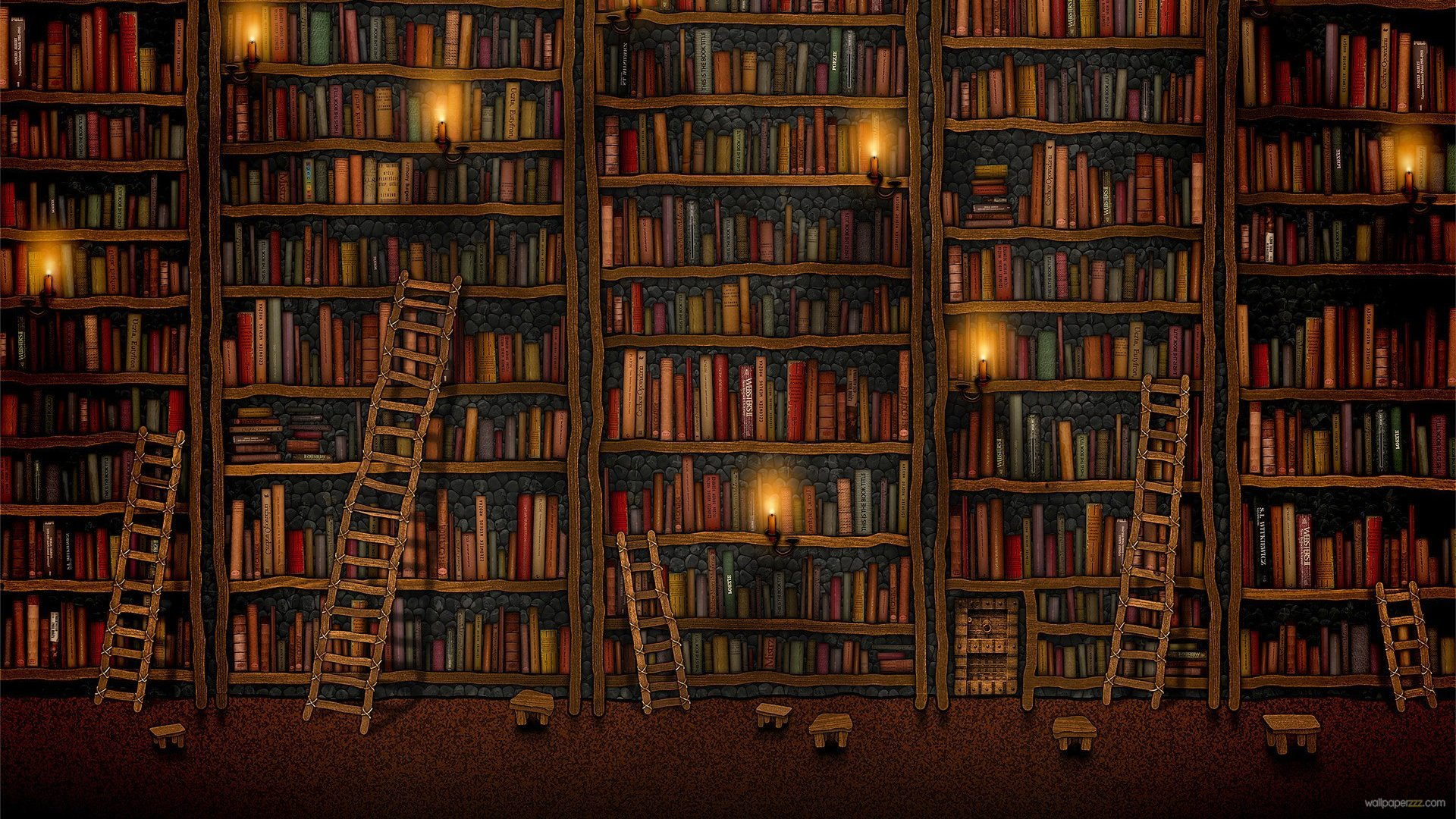Library Wallpaper HD