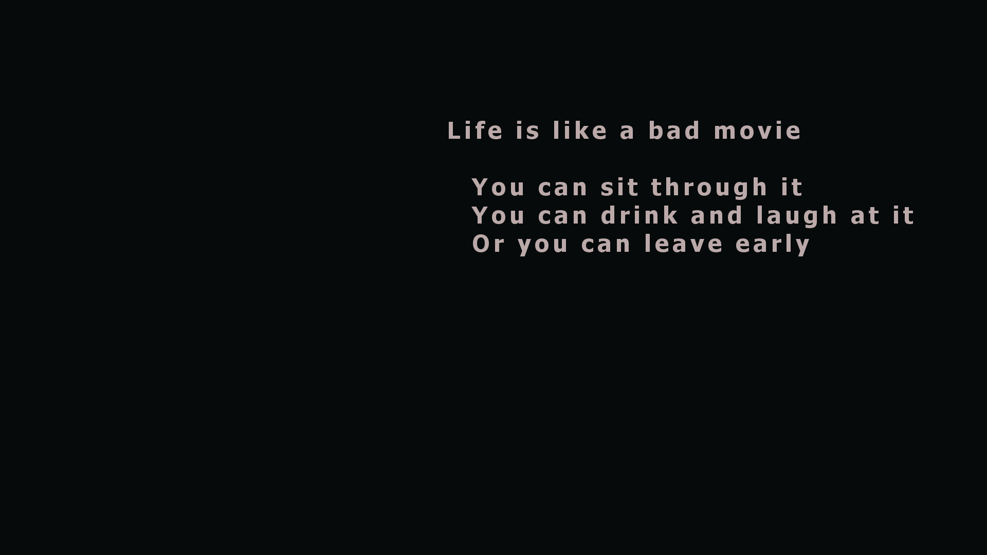 Life Quote Wallpaper