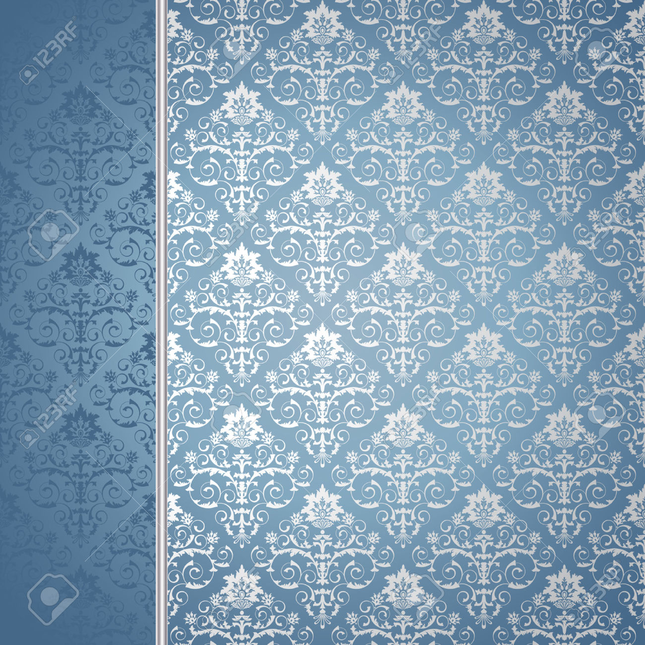 Light Blue And Silver Wallpaper