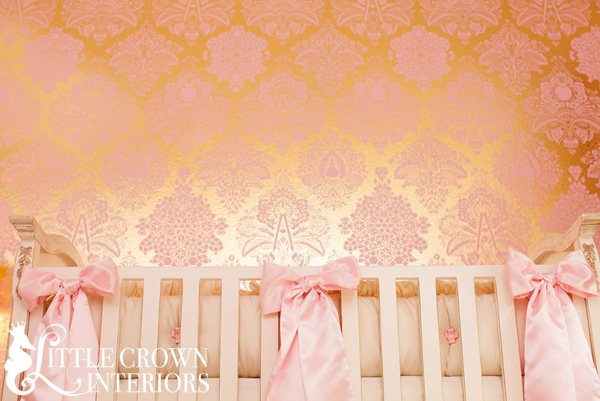 Light Pink And Gold Wallpaper