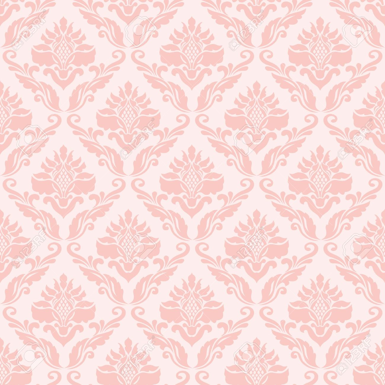 Light Pink Vintage Wallpaper
