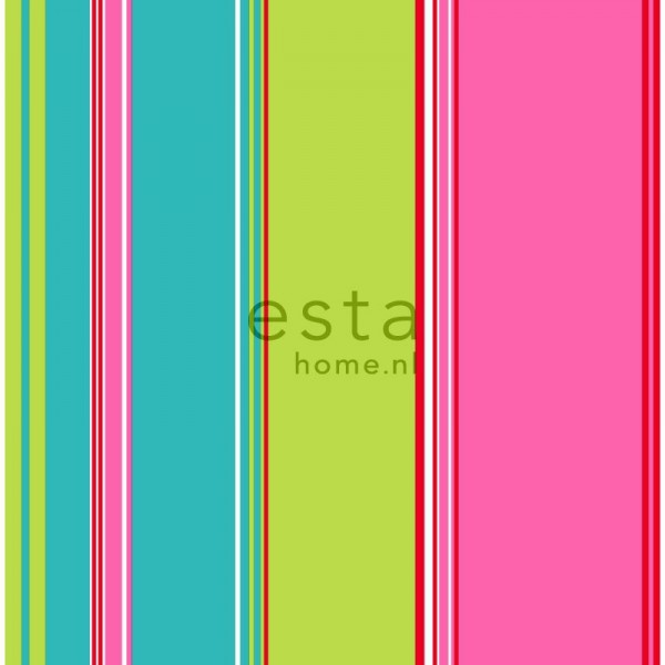 Lime Green And Black Striped Wallpaper