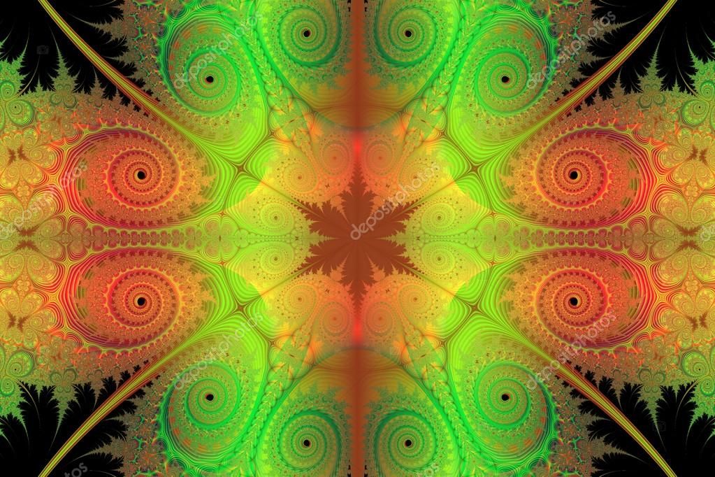 Lime Green And Orange Wallpaper
