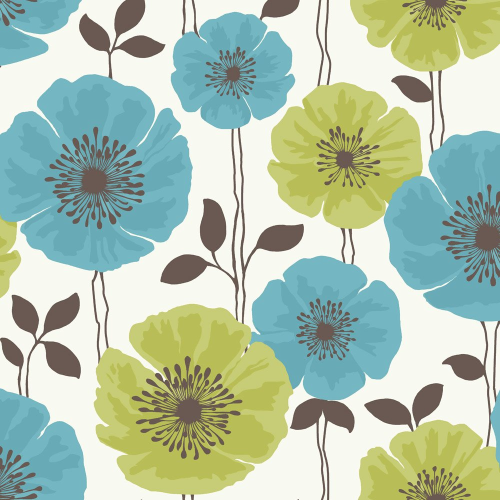 Lime Green And Teal Wallpaper