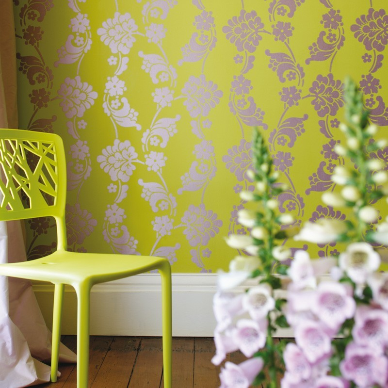 Lime Green Bedroom Wallpaper