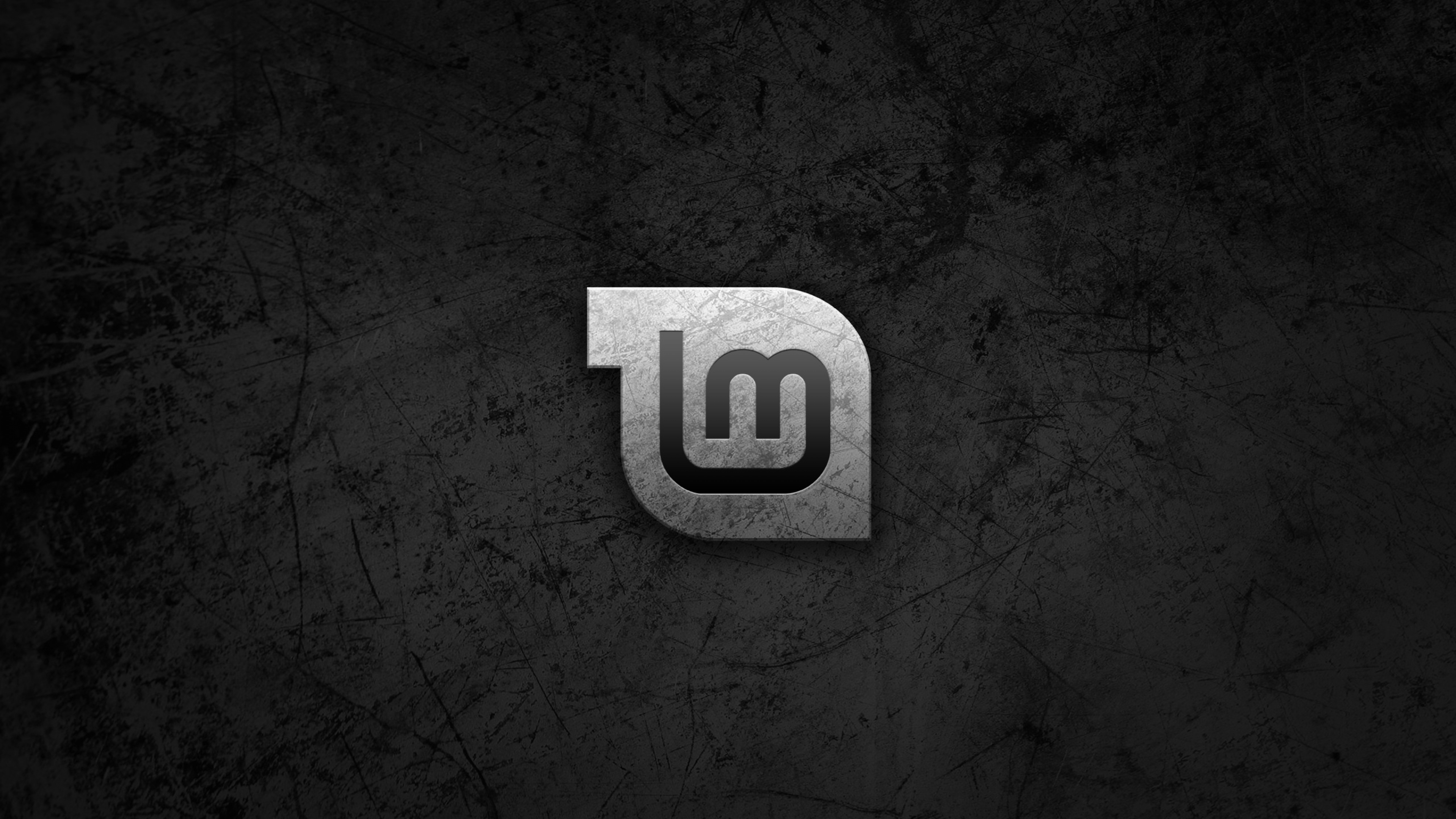 Linux Mint Black Wallpaper