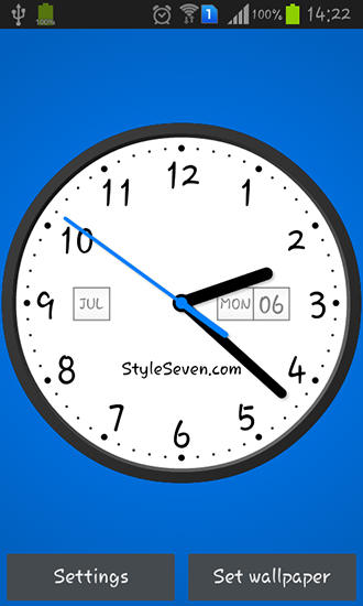 Live Analog Clock Wallpaper