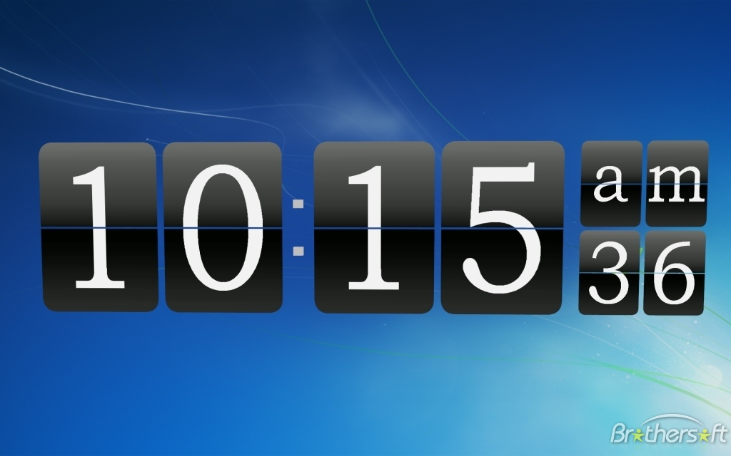 Live Clock Wallpaper For Windows 7
