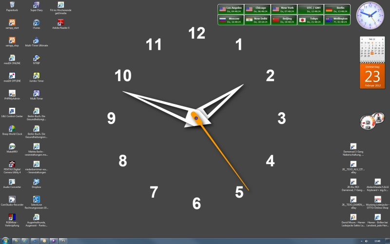 Live Desktop Clock Wallpaper Windows 7