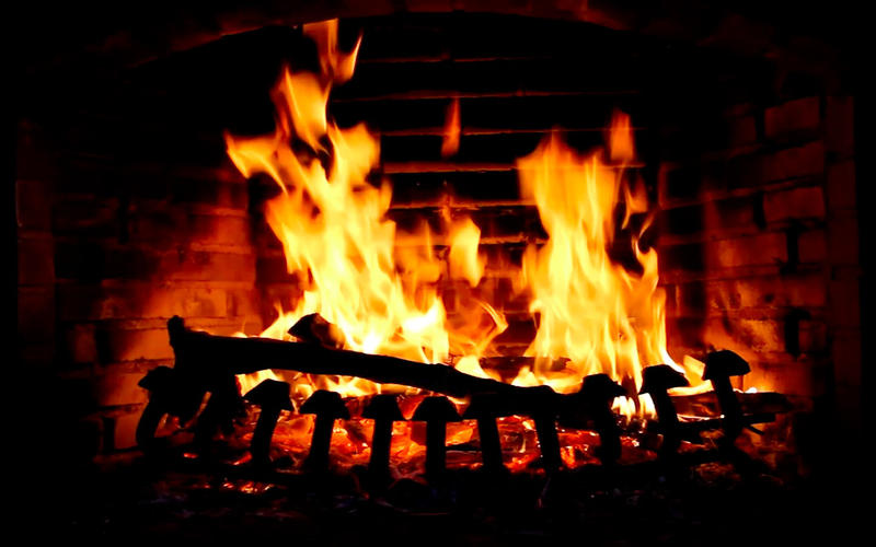 Live Fireplace Wallpaper