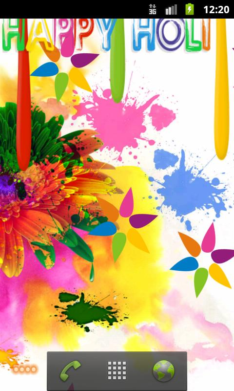 Live Holi Wallpaper