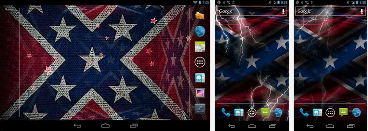 Live Rebel Flag Wallpaper