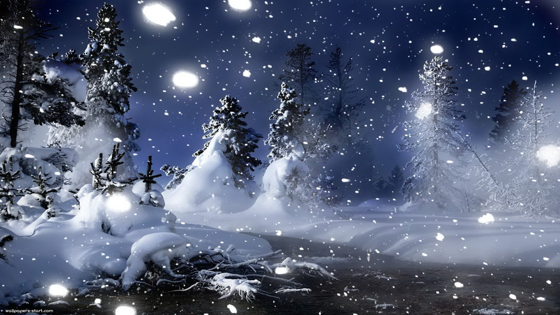 Live Snow Falling Wallpaper