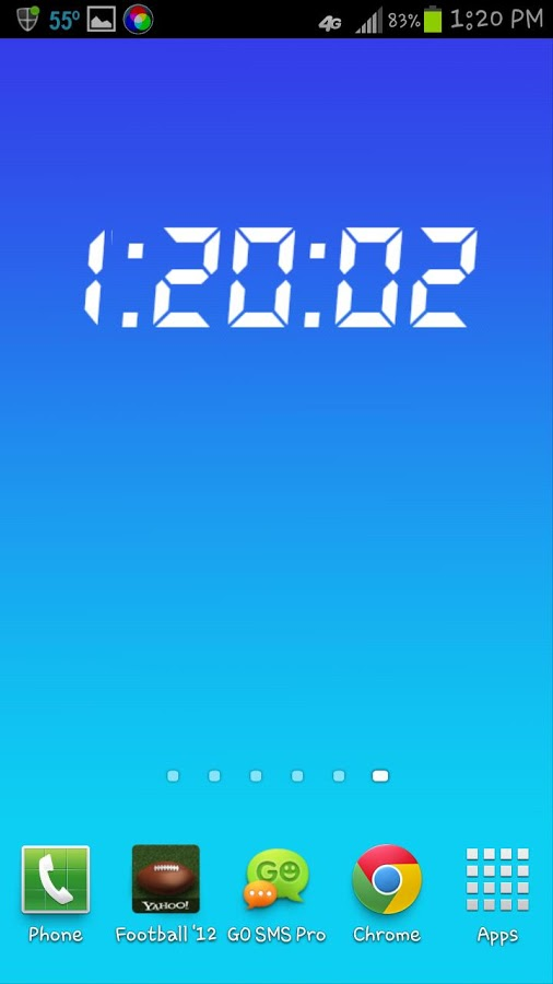 Live Wallpaper Digital Clock