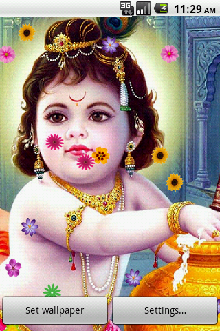 Live Wallpaper Lord Krishna