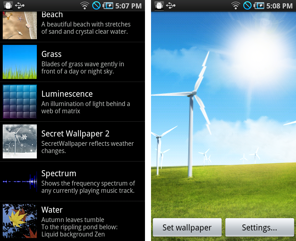 Live Wallpaper Windmill Weather