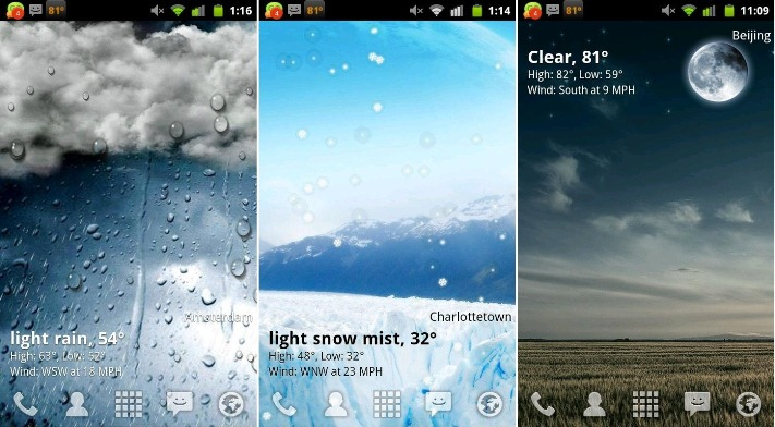 Live Weather Wallpaper For Android