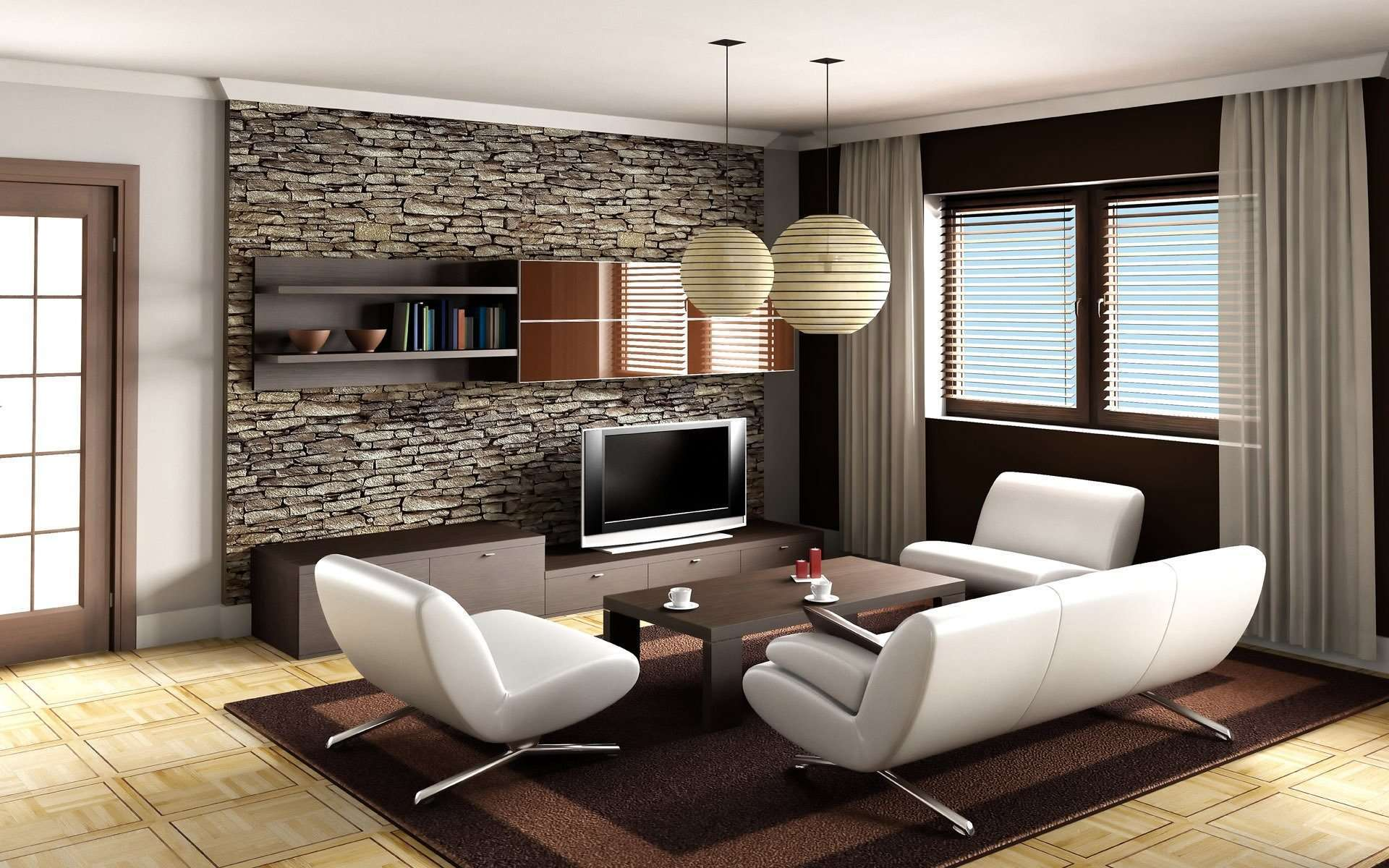 Living Room Modern Wallpaper