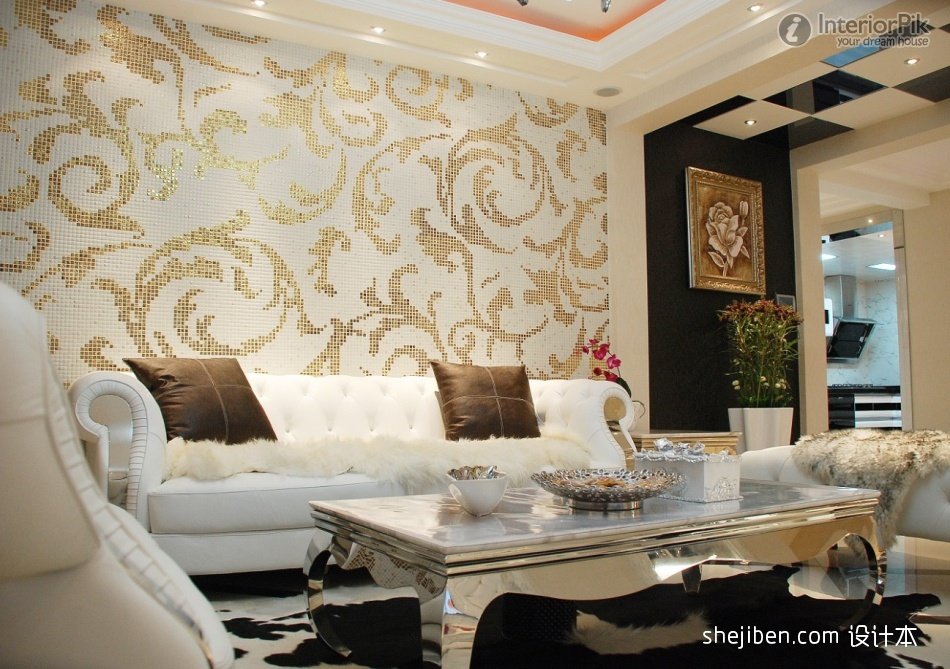 Living Room Wallpaper Designs India