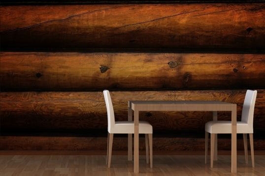 Log Cabin Look Wallpaper